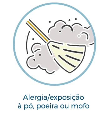 Alergia/exposição a pó, poeira ou mofo