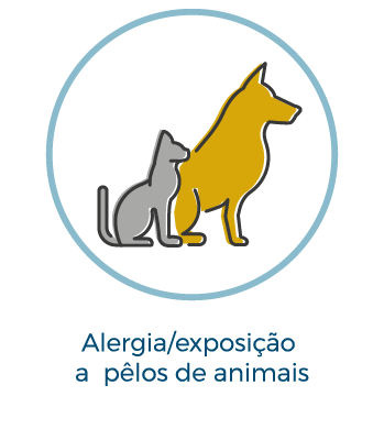 Alergia/exposição a pelos de animais