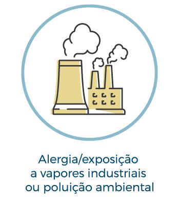 Alergia/exposição a vapores industriais ou poluição ambiental